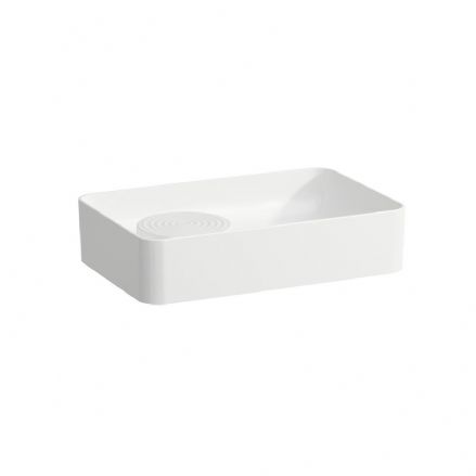 812282 - Laufen Val 550mm x 360mm Bowl Washbasin with Semi-Wet Area Islet - 8.1228.2